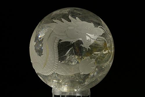 水晶白龍丸玉 直径104mm