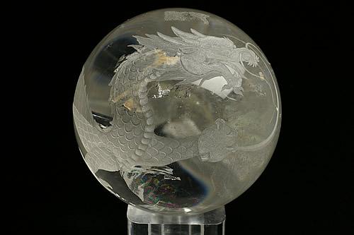 水晶白龍丸玉 直径100mm
