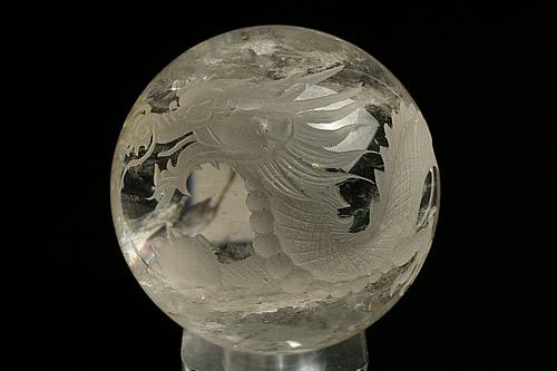 水晶白龍丸玉 直径83mm