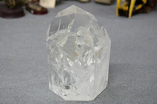 博物館クラス!特大サイズ!水晶ファントムポイント ブラジル産
