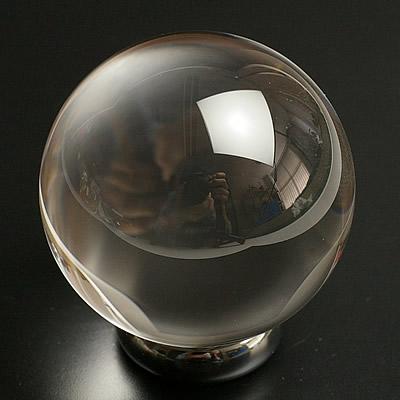 最高級品5A無垢水晶丸玉36mm~37mm