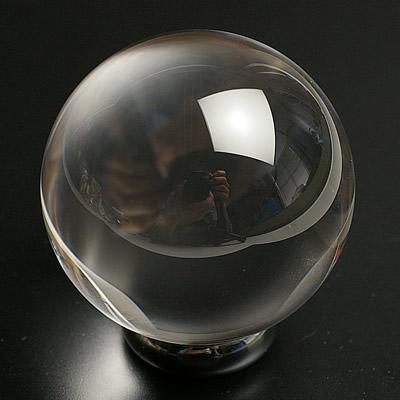 最高級品5A無垢水晶丸玉38mm~39mm