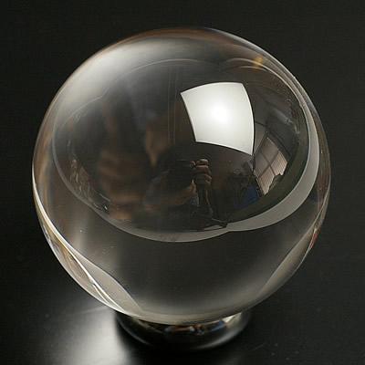 最高級品5A無垢水晶丸玉40mm~41mm
