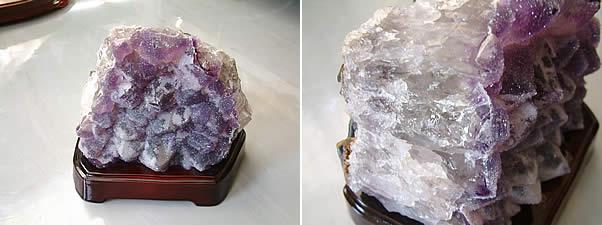アメジスト(珍種)置石ブラジル産