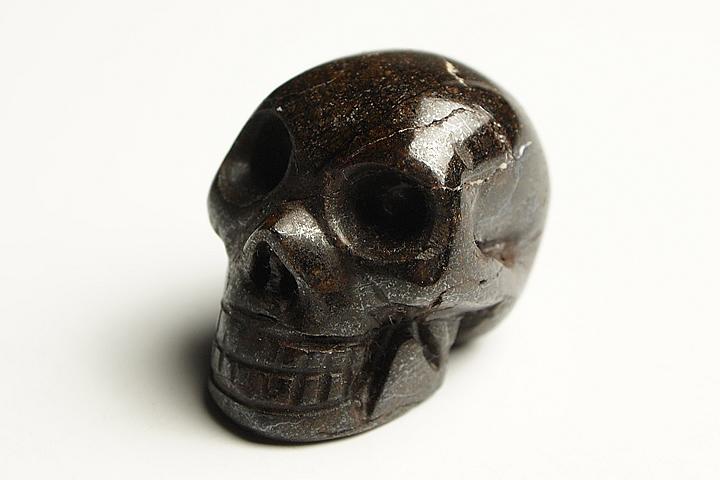 サハラ隕石彫刻 ドクロ