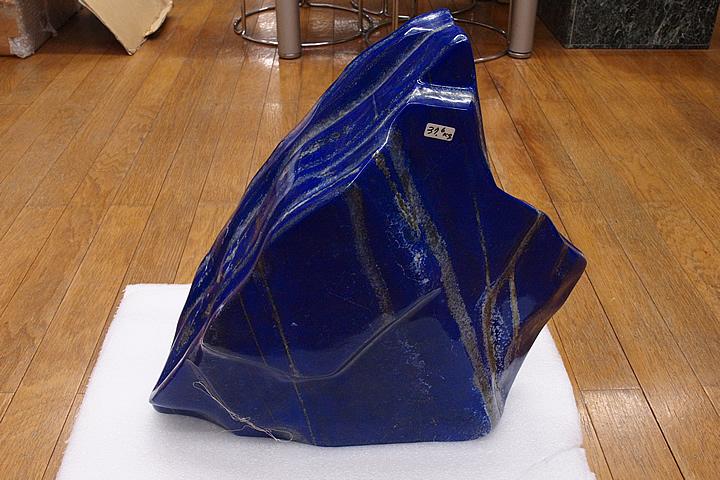 博物館クラス!プレミアムグレード 37.6キロラピスラズリー磨き原石 アフガニスタン産