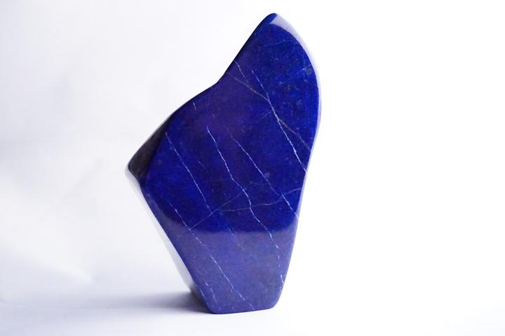 ファイナルグレード 409.7gラピスラズリー磨き原石 アフガニスタン産