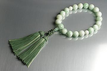 16mm糸魚川翡翠念珠 最高の一品