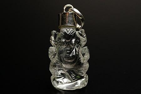 業界最安値に挑戦中 日本 ガーネッシュヒマール産 新作販売 ヒマラヤ水晶ガネーシャ彫刻ペンダントトップ