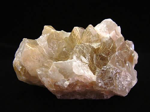ルチル水晶クラスター