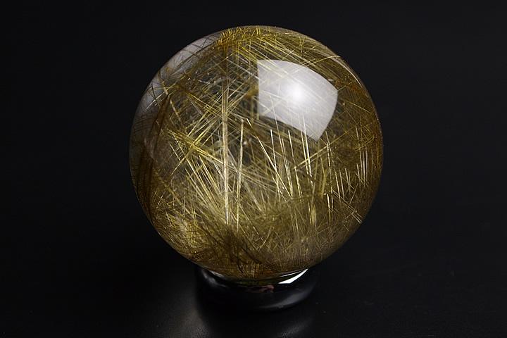 プレミアム ルチル水晶丸玉