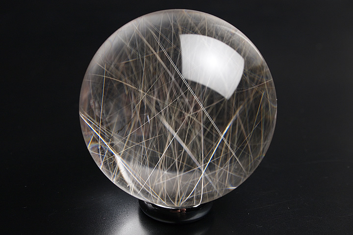 ルチル水晶丸玉 高品質