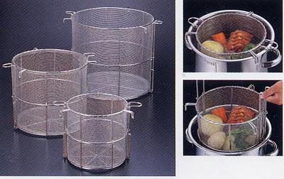 18-8ステンレス 丸型寸胴 スープ取りザル27cm用 (8メッシュ)