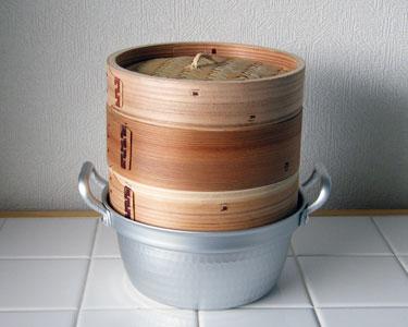 蒸し器2段 15cm 杉製 セイロ
