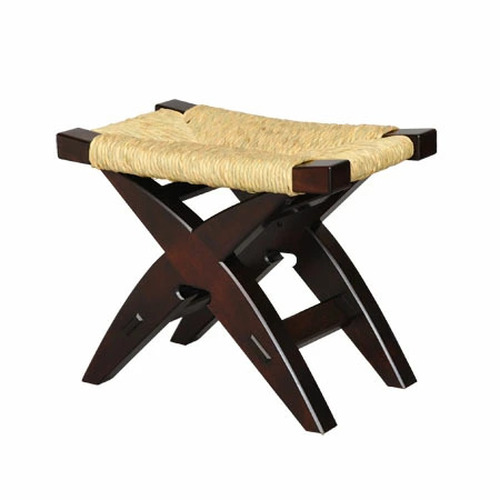 手作り ハンドメイド の椅子 いす 完売 松本民芸家具 国産のミズメザクラとフトイ #222型鞍型スツール を使用した使うほどに味のでるスツールです イグサ 返品送料無料