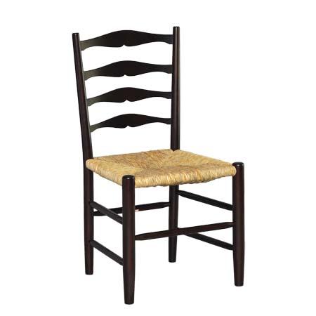 売り出し 手作り 訳あり品送料無料 ハンドメイド の椅子 松本民芸家具 イグサ を使用した使うほどに味のでるラッシチェアです #63型ラダーバックチェア 国産のミズメザクラとフトイ