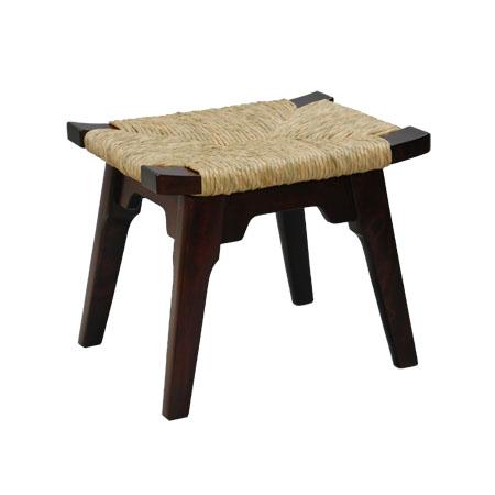 手作り ハンドメイド の椅子 AL完売しました 松本民芸家具 #514型ラッシスツール ストア を使用した使うほどに味のでるスツールです 柳宗悦氏デザイン監修 イグサ 国産のミズメザクラとフトイ