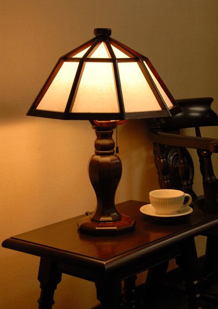 手作り 価格 ハンドメイド の家具やわらかな和紙の灯りがあたたかい 九角木製スタンド 超特価SALE開催 松本民芸家具