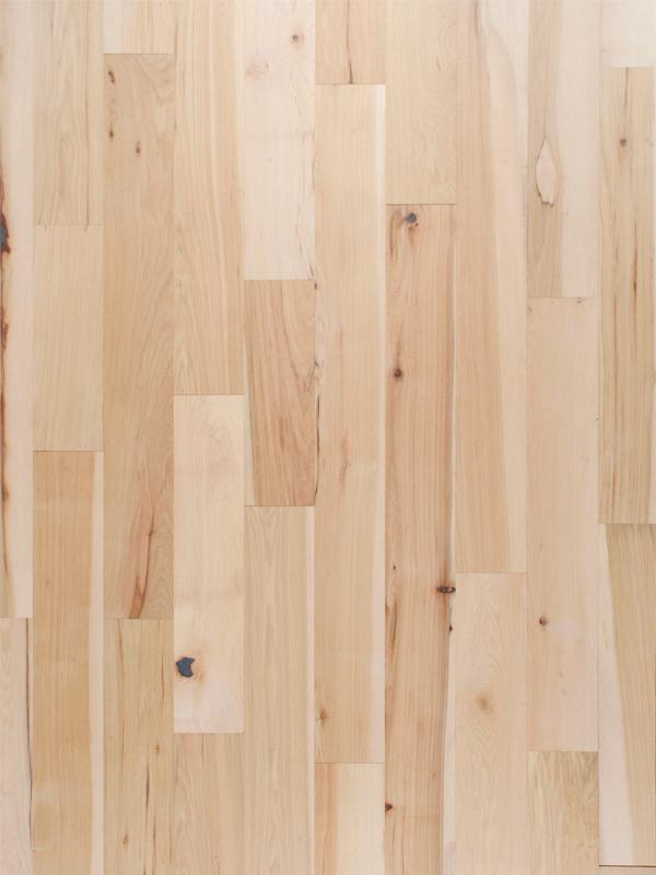 ストライプ・ヒッコリー・フローリング 幅125 (1m2)※送料無料対象外【送料区分5】【無垢 フローリング 床材 ヒッコリー 木材 乱尺 無塗装 ナチュラル diy リノベーション 販売 通販】