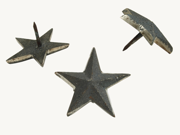 Antique decorative tacks star-shaped cast iron nail, Star, diameter 50 mm is * one by one. Under furniture for door decoration for [Metal hardware studs screw hidden hand] [DIY renovation remake]
