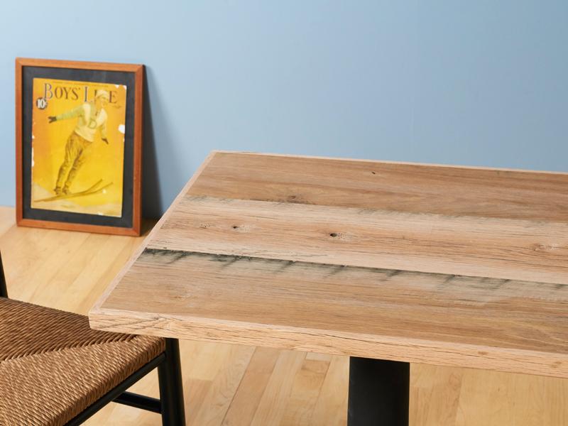 J.B. オーク・テーブル・トップ (600×500) 無塗装※受注生産(製作期間約2~3週間)[送料区分2]【 古材 天板 テーブル オーク 無塗装 天板のみ デスク 撮影天板 カフェ DIY サイズオーダー 】
