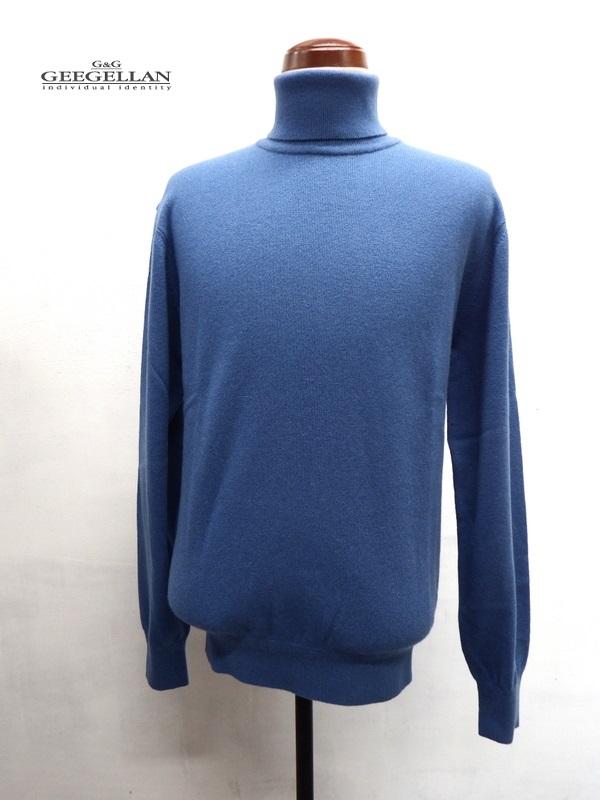 GEEGELLAN (ジーゲラン) ピュアカシミヤ タートルネック セーター ブルー