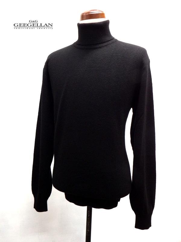 GEEGELLAN (ジーゲラン) ピュアカシミヤ タートルネック セーター ブラック