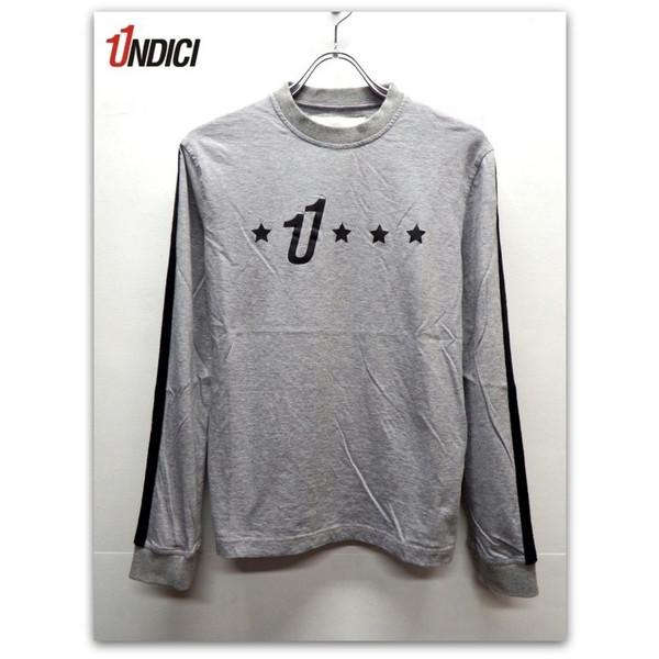 UNDICI (ウンディッチ) 長袖 Tシャツ グレー