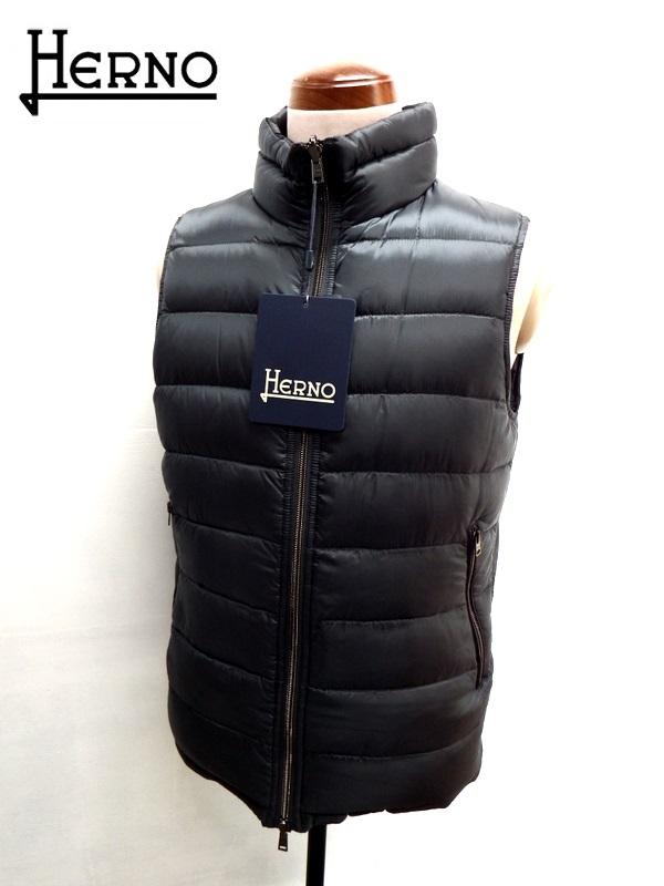 HERNO (ヘルノ) リバーシブル 軽量 ダウンベスト チャコールグレー×ブラック
