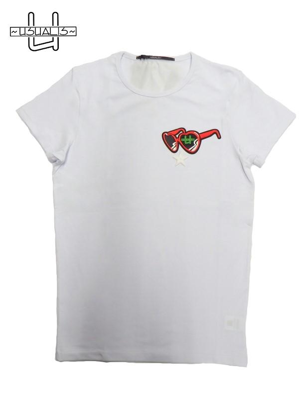 低価格 USUALIS(ウザリス)ストレッチ半袖Tシャツ/ホワイト/U8281M-01-BIANCO, MUSIC LAB 80ef6332