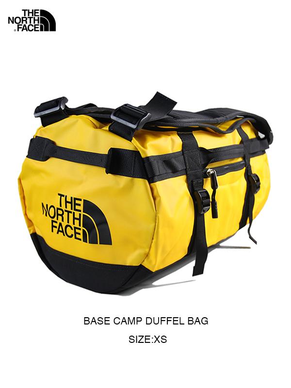 【USモデル】THE NORTH FACE ザ・ノースフェイス ベースキャンプダッフルバッグ ボストン ショルダー バックパック 3WAY イエロー BASE CAMP DUFFEL BAG - XS summit gold