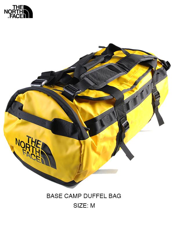 【USモデル】THE NORTH FACE ザ・ノースフェイス ベースキャンプダッフルバッグ ボストン ショルダー バックパック 2WAY イエロー BASE CAMP DUFFEL BAG - M summit gold