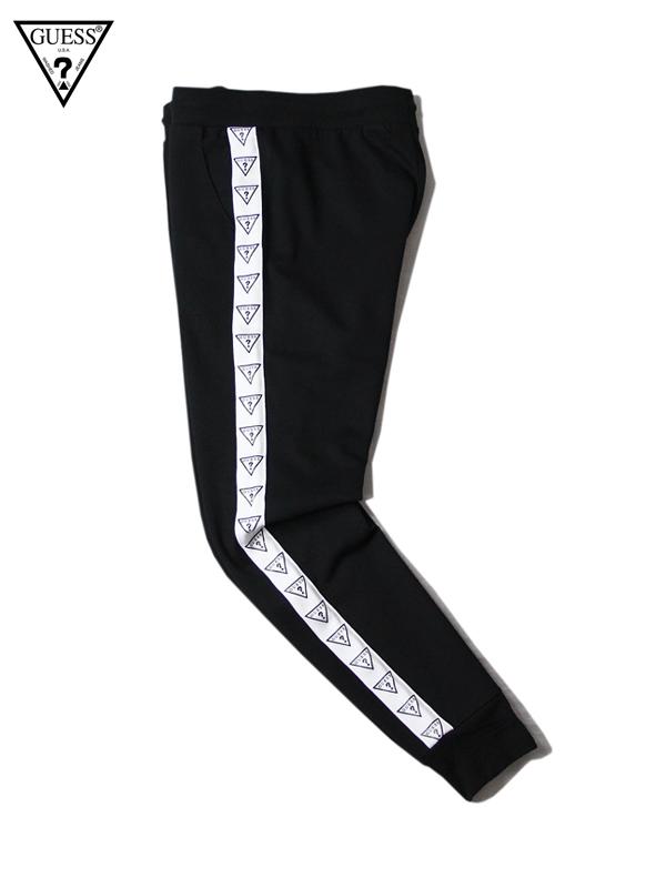 【US買い付け正規品】【あす楽】GUESS ゲス トラック パンツ ブラック TRACK PANTS black