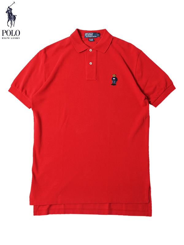 【US買い付け正規品】【即納】POLO Ralph Lauren ポロ ラルフローレン BEAR Polo Shirts red ポロ ベアー ポロシャツ レッド