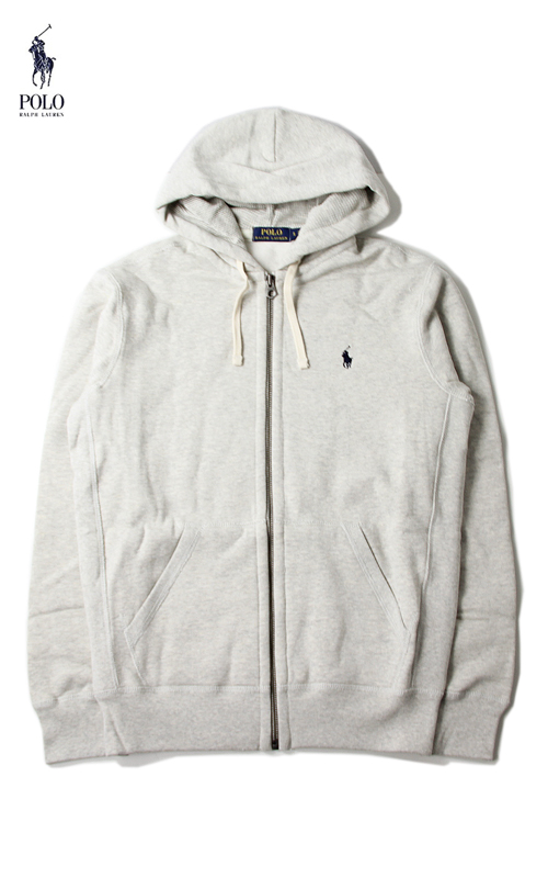 0660e4292 POLO by Ralph Lauren (Polo Ralph Lauren) and zip foodie parka thermal weave  light Heather grey 710548546 LS FLEECE ZIP HOODIE light sport heather gray