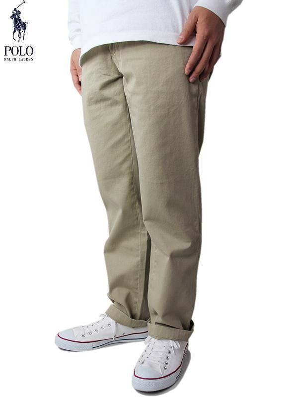 【送料無料】【US限定モデル/あす楽】ポロ ラルフローレン チノパン ストレート ワイド クラシックフィット カーキ ベージュ タン POLO by Ralph Lauren CLASSIC FIT CHINO PANTS tan khaki beige