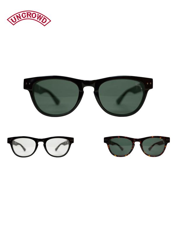 【送料無料】UNCROWD(アンクラウド) / サニー バイカーシェード サングラス 伊達メガネ UC-008 SUNNY tort/black/clear/green
