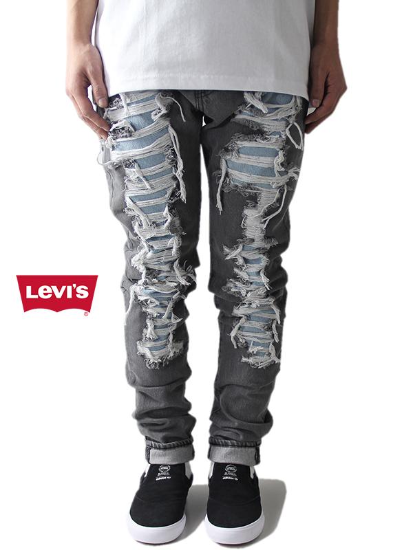 【US買い付け正規品】Levi's リーバイス スリムデニム ジーンズ スリムテーパード ロングレングス ストレッチ ウォッシュ グレー LO-BALL SLIM DENIM JEANS gray