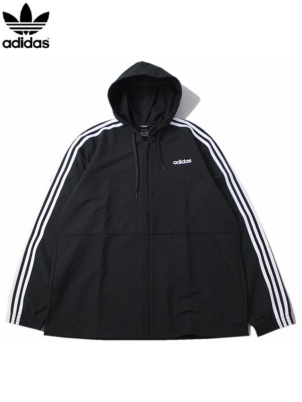 【USモデル正規品】adidas Originals アディダス ウィンドブレーカー ジップ パーカー ジャケット ブラック WIND BREAKER ZIP HOODIE PARKA JACKET black