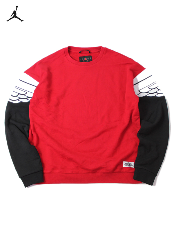super promocje 2018 buty świetne oferty JORDAN BRAND CREWNECK SWEAT red/black Nike Jordan brand jump man crew neck  sweat shirt red / black