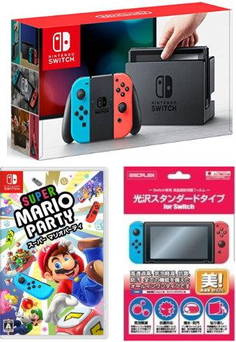 ★ おまけ付★新品 Nintendo Switch Joy-Con (L) ネオンブルー/ (R) ネオンレッド+{Switch}スーパー マリオパーティ2点セット