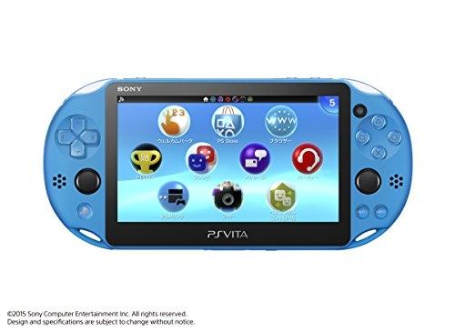 キャッシュレス5%還元・おまけ付・ PlayStation Vita本体 Wi-Fiモデル アクア・ブルー PCH-2000ZA23