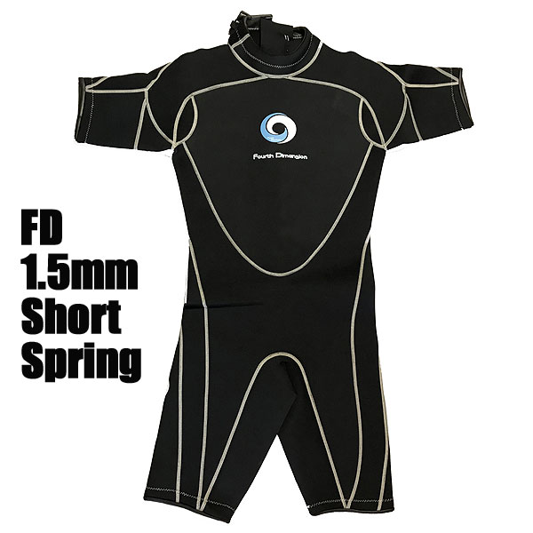 Fourth Dimension ウェットスーツ メンズ ショートスプリング1.5mm BLK