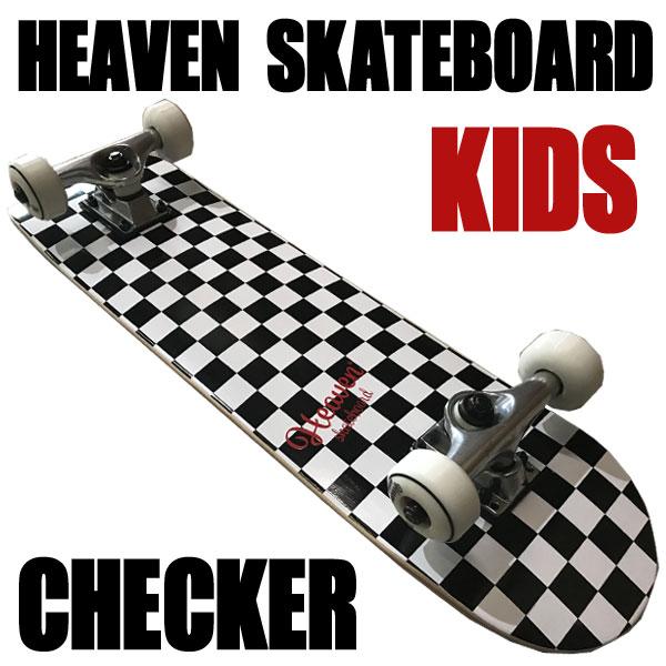 ヘブン 子ども用 ハイスペック コンプリート スケートボード チェッカー 27.5×7 選び抜かれた高品質のスケボー