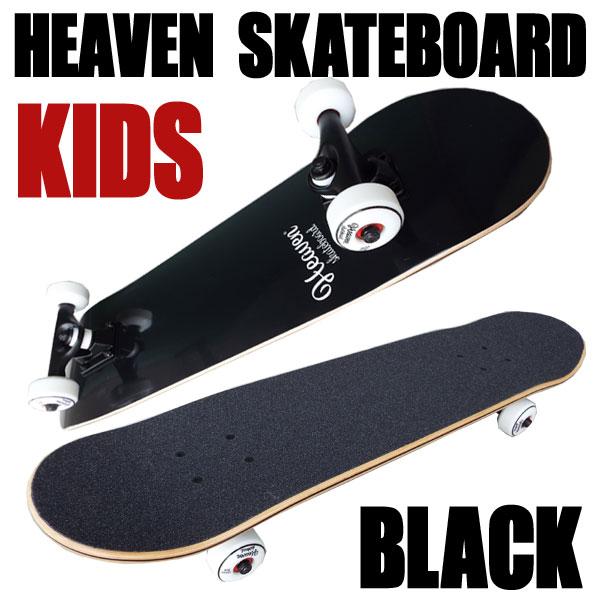 ヘブン 子ども用 ハイスペック コンプリート スケートボード BLK 28.5×7.375 選び抜かれた高品質のスケボー