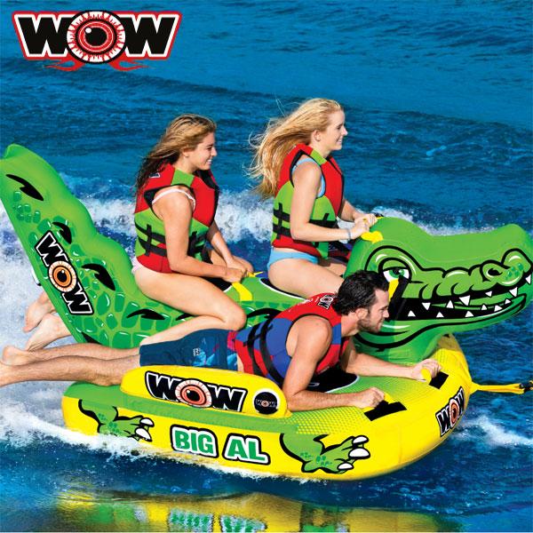 WOW(ワオ) ビッグアリゲーター 4人乗りトーイングチューブ