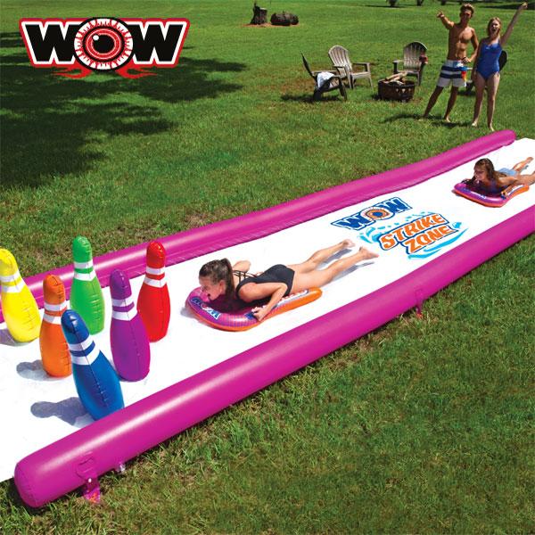 WOW(ワオ) ストライクゾーン ウォータースライド 25×6ft ボウリング ウォータースライダー
