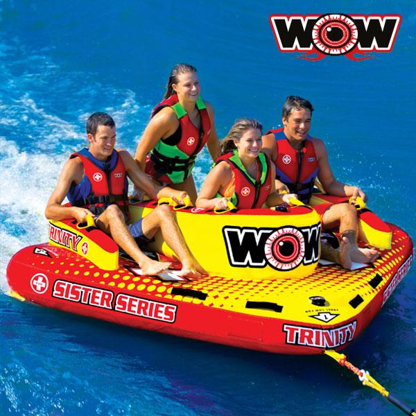 WOW(ワオ) トリニティー 4人乗りトーイングチューブ