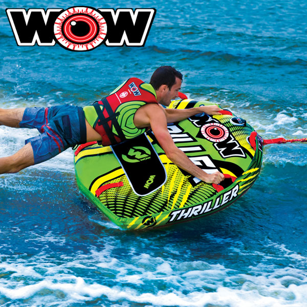 WOW(ワオ) スリラー 1人乗りトーイングチューブ海で遊べるマリングッズ