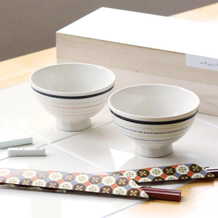 波佐見焼の夫婦茶碗と箸と箸置きセット 木箱入り newitem